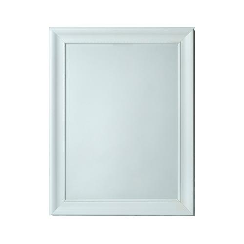 Espejo borghese 2 blanco misionesdeco for Espejo ovalado blanco