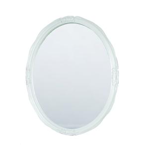 Espejo Oval Breneghy Blanco